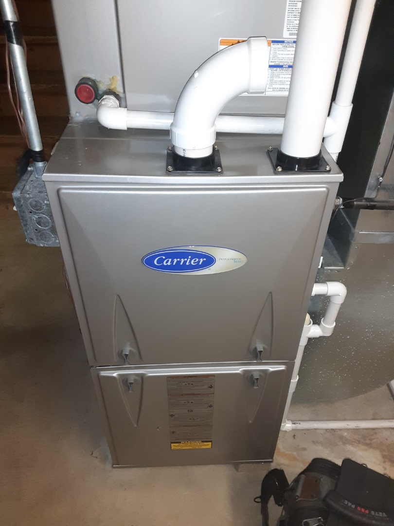 Complete furnace maintenance. Recommend a duct cleaning.
