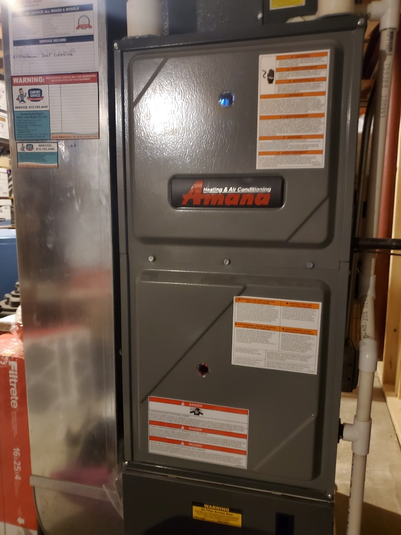Romeoville, IL - Successfully completed furnace and humidifer maintenance for our comfort plus member!