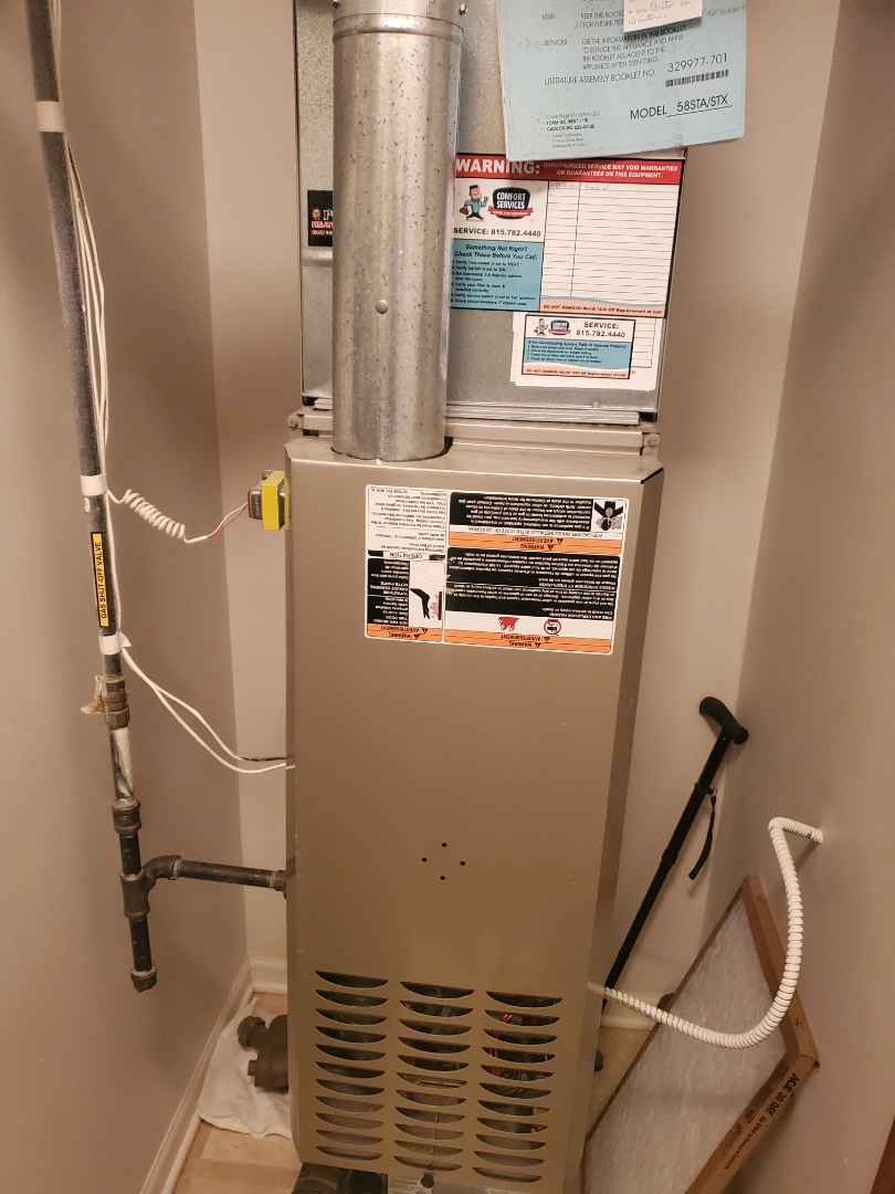 Crest Hill, IL - Completed furnace maintenance with little to no problems for our newest comfort plus member!