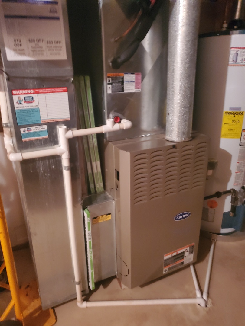 Crest Hill, IL - Successfully completed furnace maintenance for our comfort plus member!
