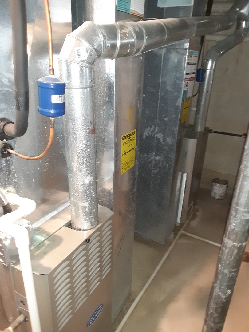 Bolingbrook, IL - Complete 2 system furnace maintenance. Attached recommendations to invoice.