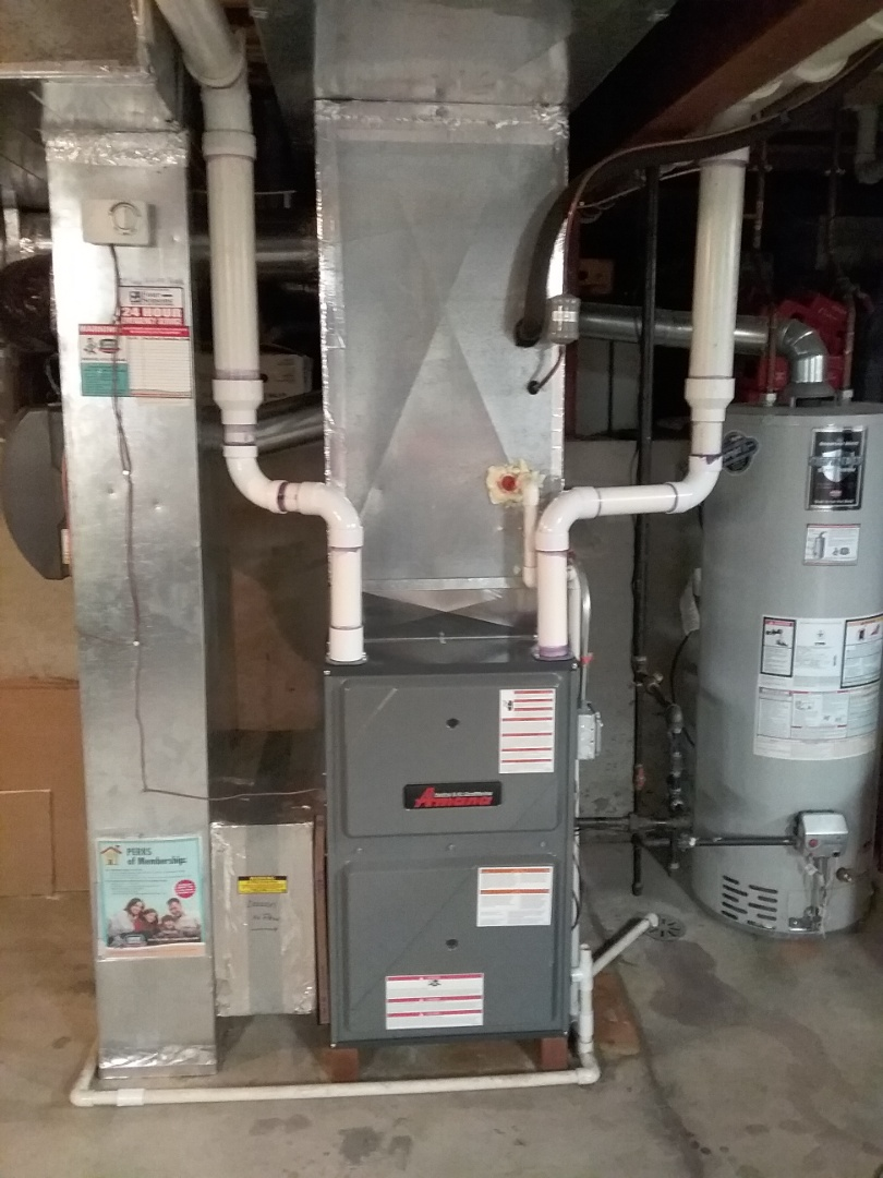 Bolingbrook, IL - Complete amana high efficiency furnace install
