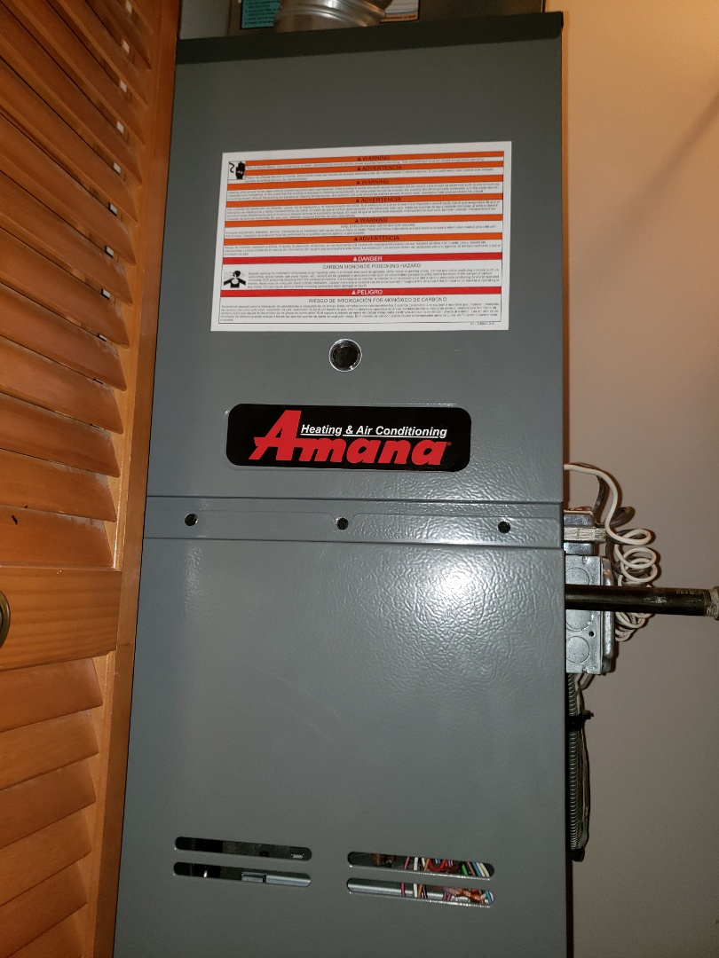 Romeoville, IL - Complete furnace maintenance. Recommend adding a bypass humidifier