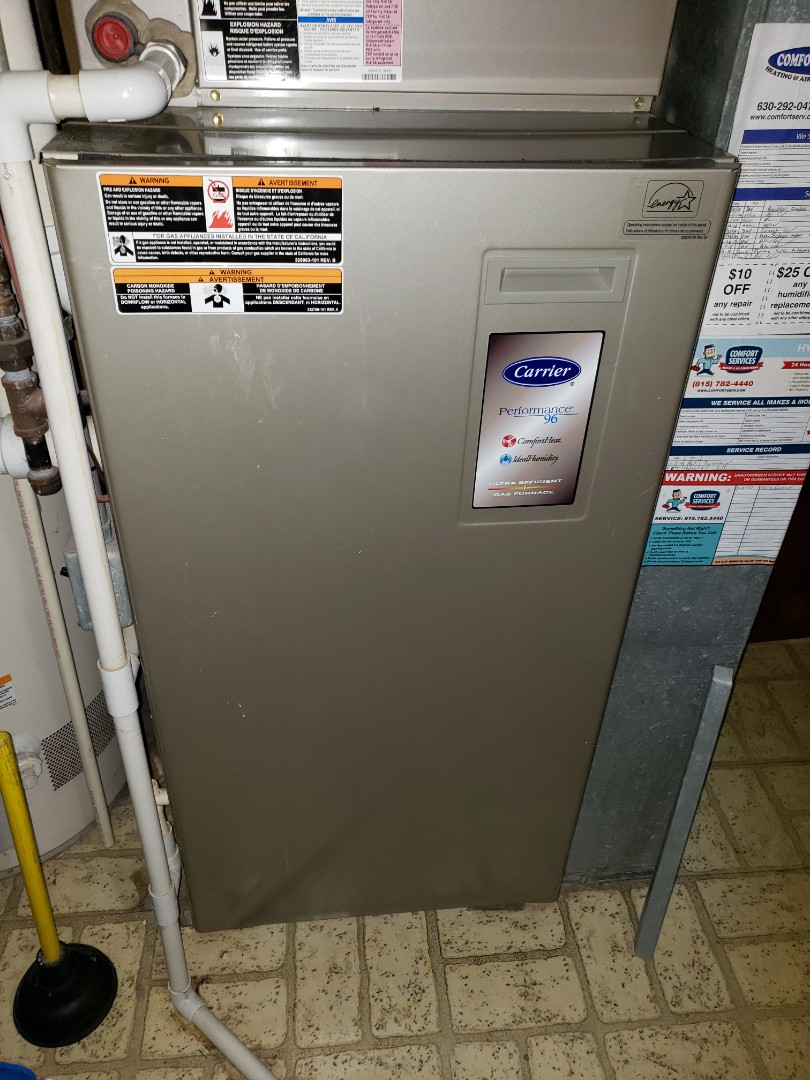 Naperville, IL - Complete furnace and humidifier maintenance. Attached recommendations to invoice.