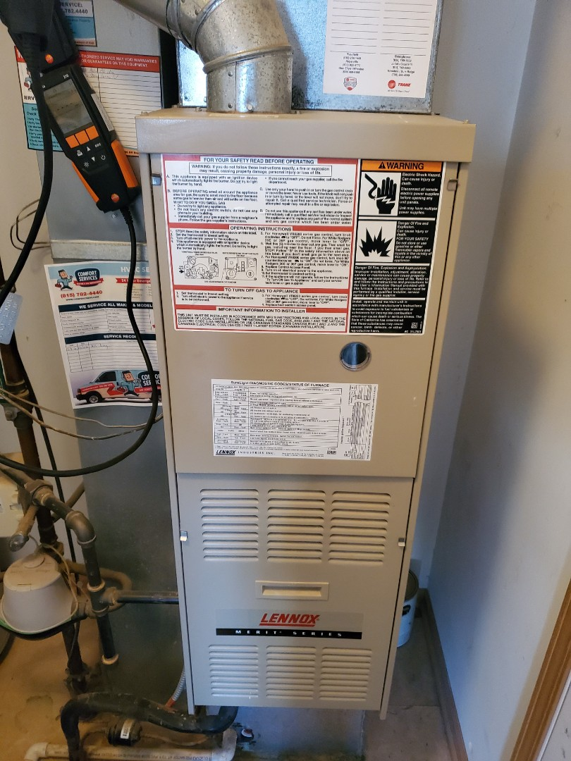 Aurora, IL - Successfully completed furnace maintenance for our comfort plus member!