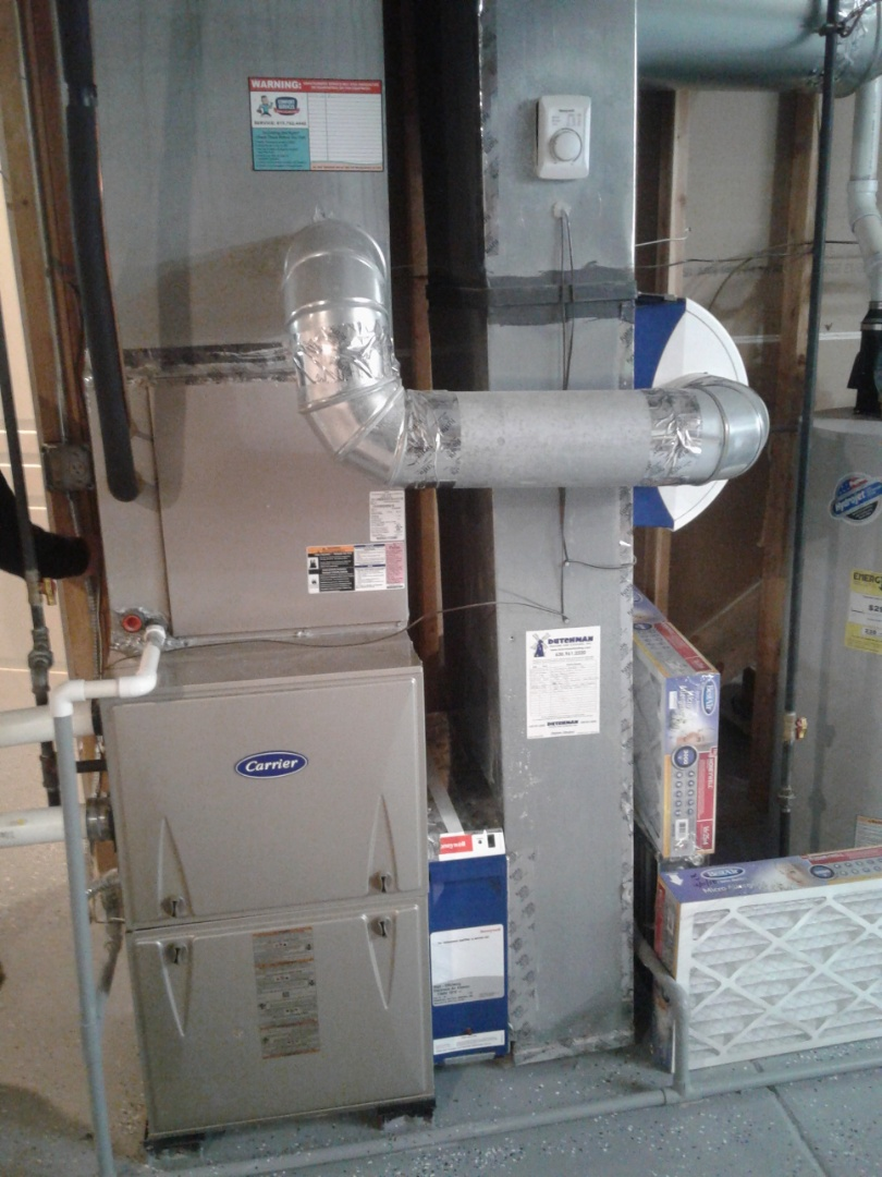 Naperville, IL - Completed furnace maintenance on carrier