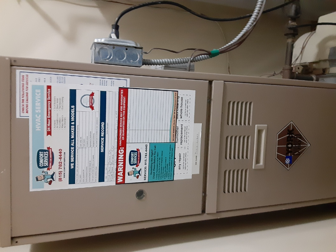 Naperville, IL - Complete furnace maintenance. Replaced the hot surface ignitor.