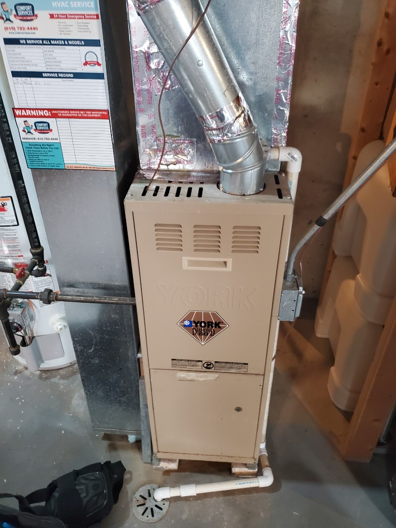 Romeoville, IL - Successfully completed furnace maintenance for our comfort plus member!