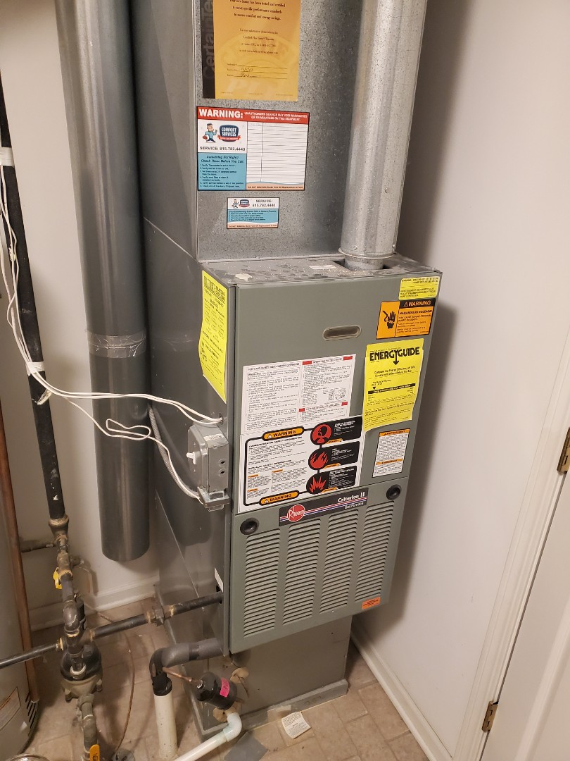 Romeoville, IL - Completed furnace maintenance for our comfort plus member!