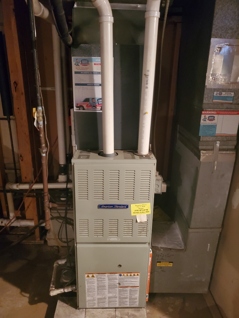 Joliet, IL - Successfully completed furnace maintenance for our comfort plus member!