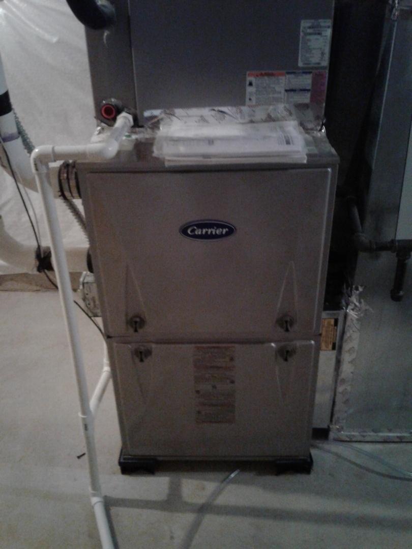 Yorkville, IL - Complete furnace maintenance on a carrier