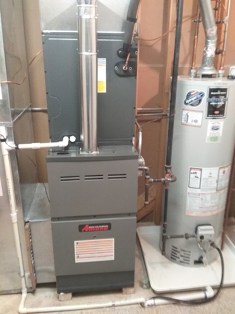 Crest Hill, IL - Complete new amana furnace, a/c & humidifier install