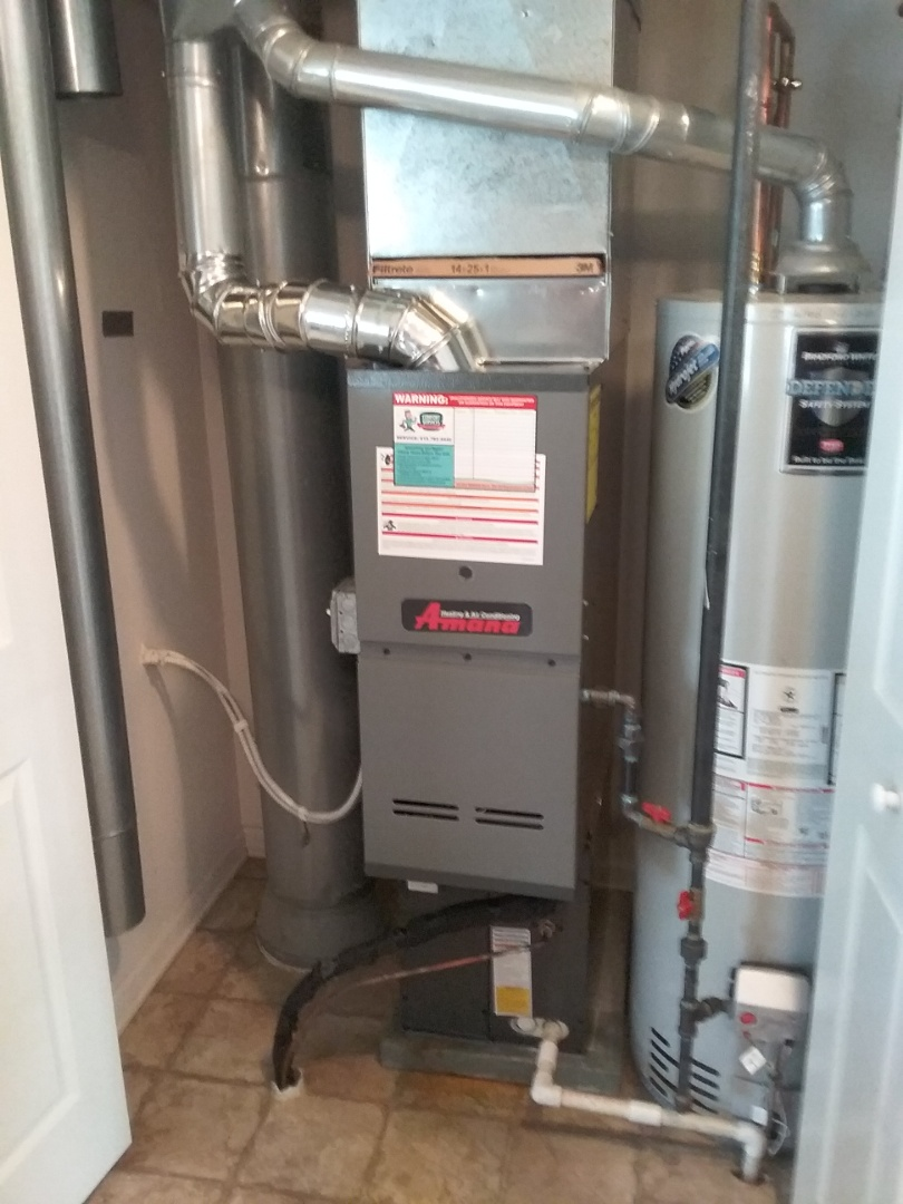 Complete amana furnace,a/c install