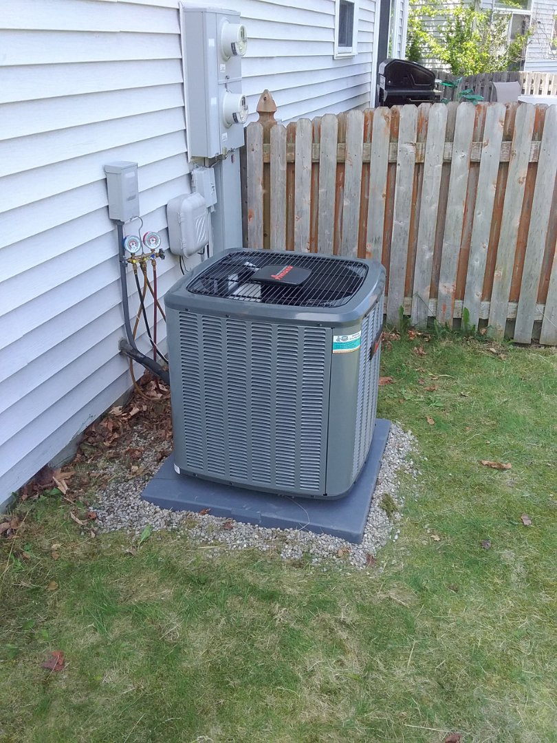 Installed an amana a/c system