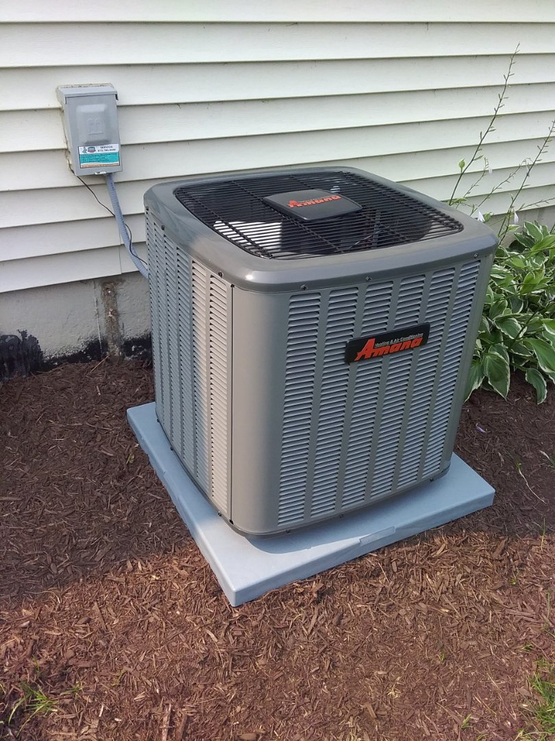 Plainfield, IL - Repaired an Amana outdoor air conditioning unit that was continuously turning on and off.