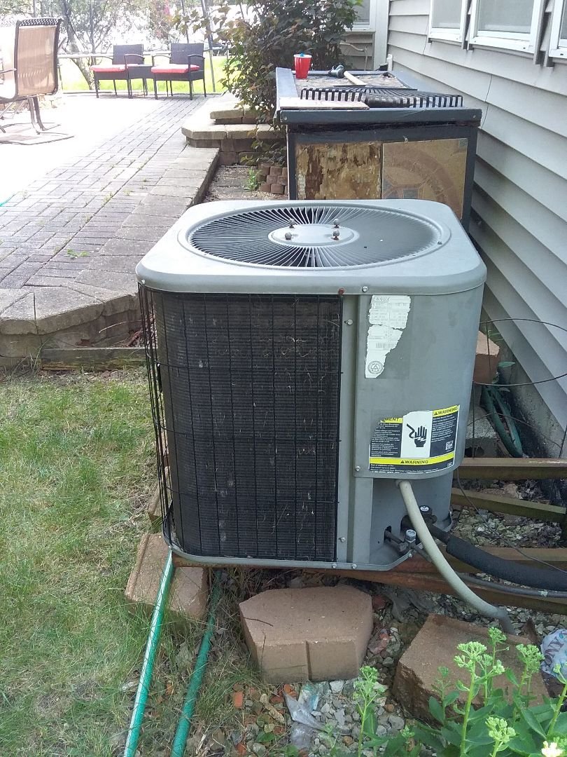 Plainfield, IL - Replaced low capacitor which was causing condenser fan motor not to come on.