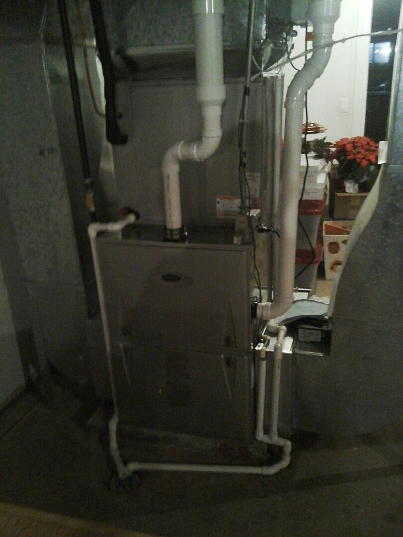 Yorkville, IL - Installed carrier infinity furnace & a/c