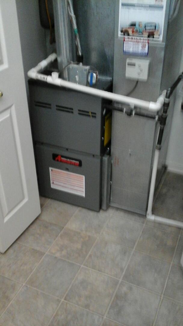 Aurora, IL - Complete Amana furnace install