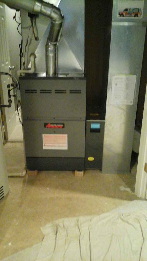 Bolingbrook, IL - Installed an Amana 2 stage furnace