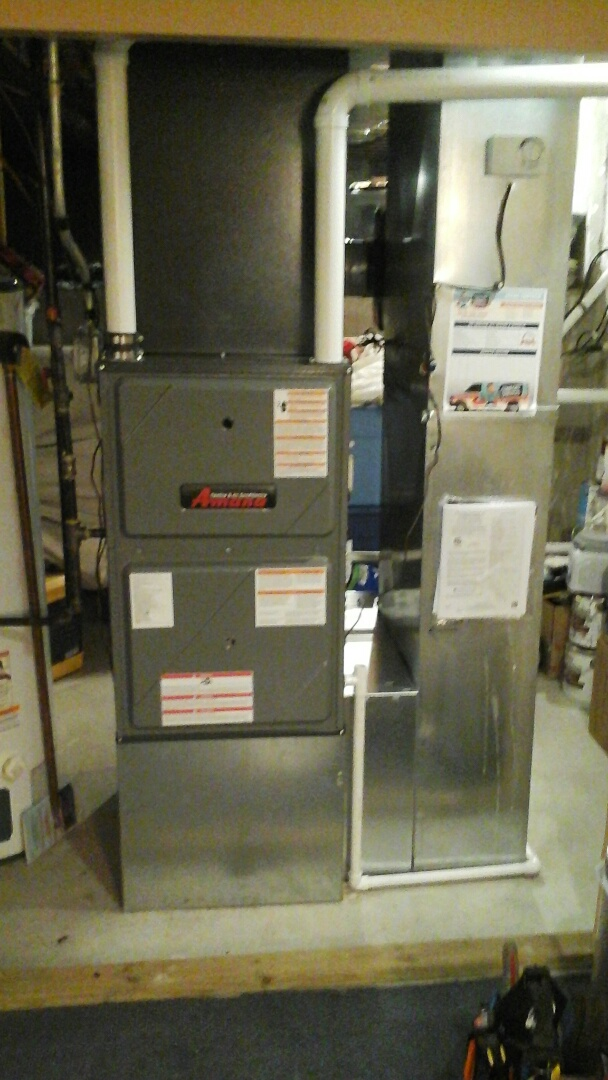 Aurora, IL - Complete amana furnace,coil & humidifier install