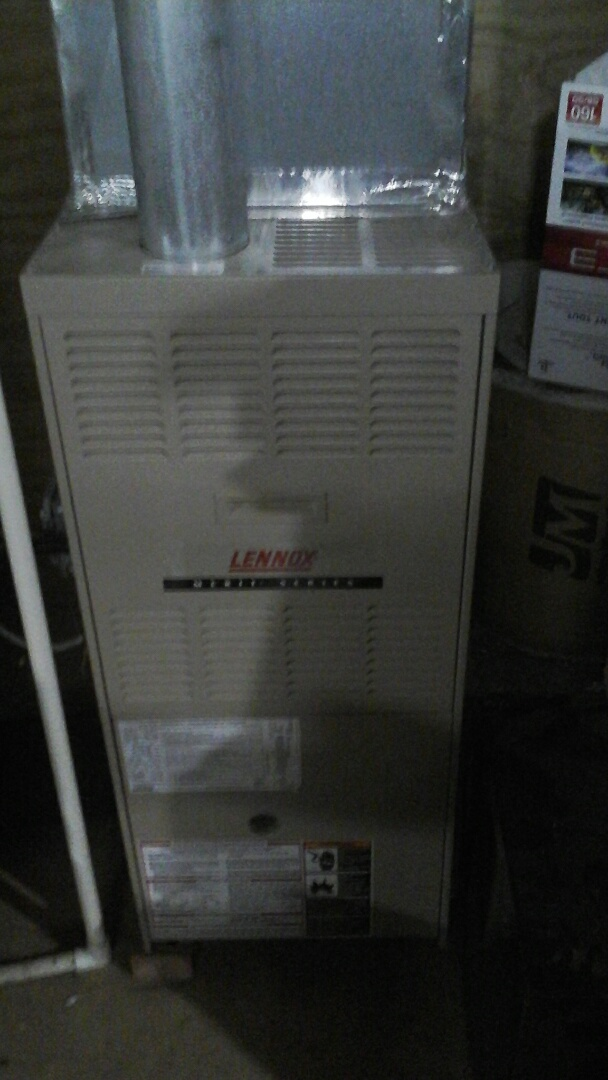 Montgomery, IL - Did a maintenance on a Lennox furnace