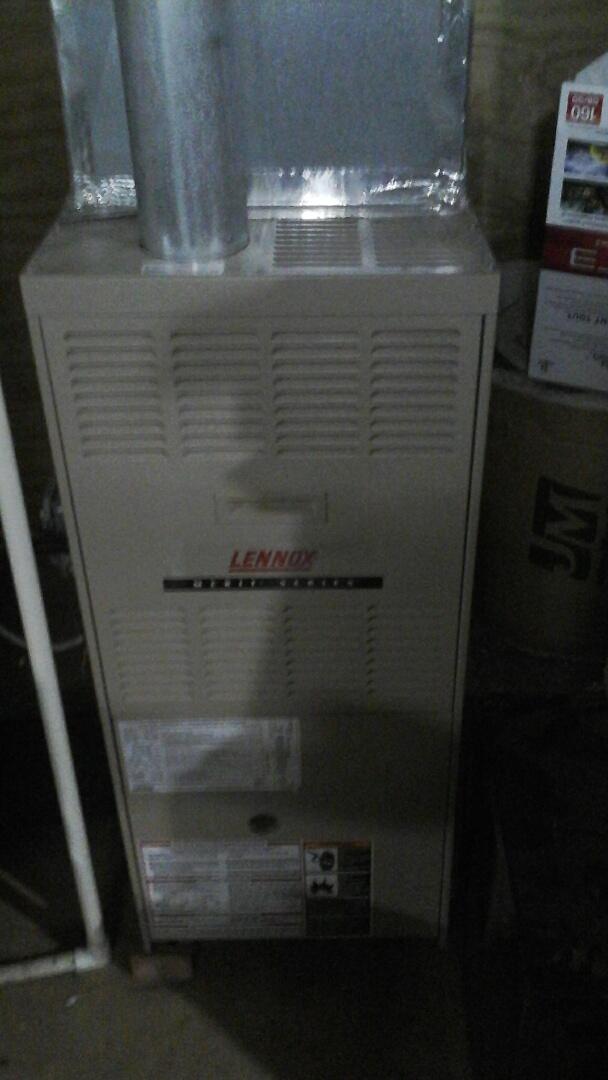 Montgomery, IL - Did a maintenance on a Lennox furnace