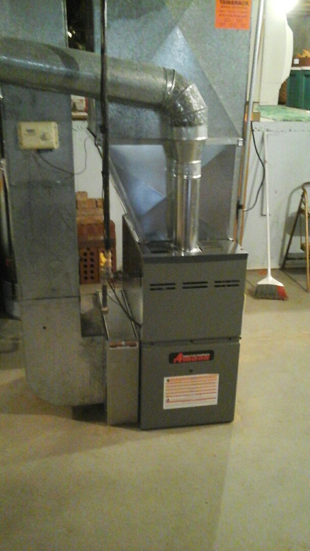 Plainfield, IL - Complete amana furnace install