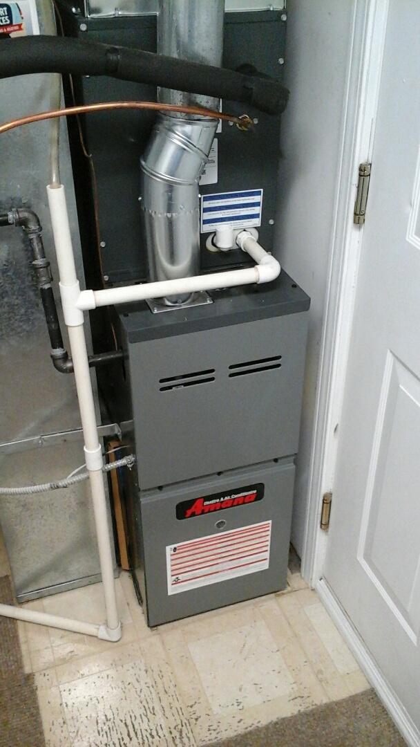 Aurora, IL - Complete amana furnace & a/c install