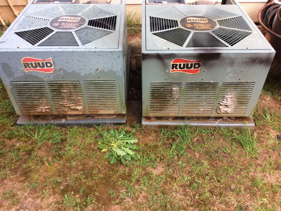 Performed tune ups on two Ruud furnaces and outside condensers and left everything in good operational condition
