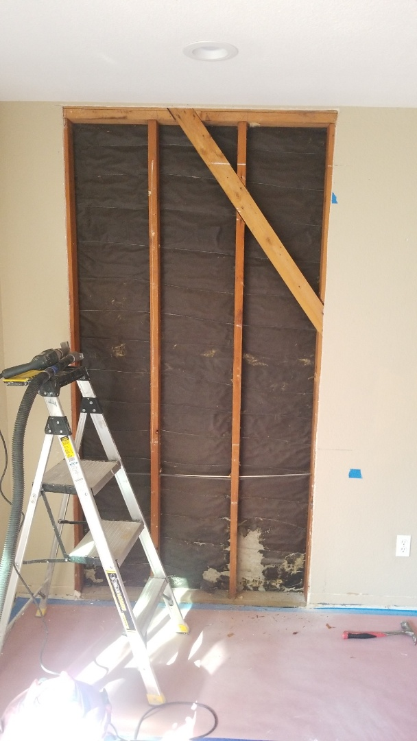 Sacramento, CA - installing new Milgard windows. we had to adjust location of window so not to disturd shearwall 1X4