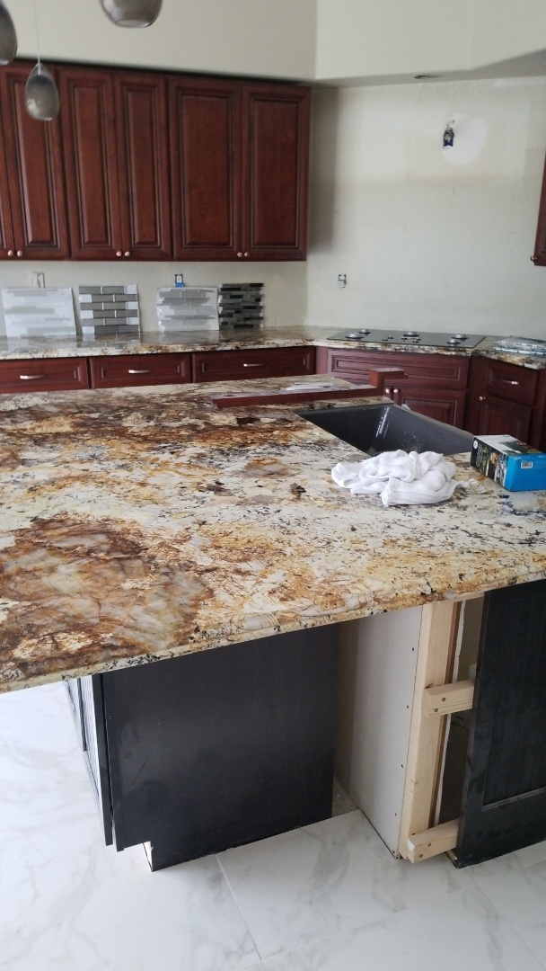 Roseville, CA - counter top in, ready for completion