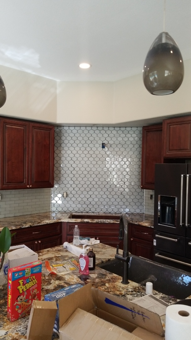 Roseville, CA - backsplash complete