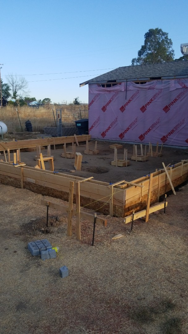 Elverta, CA - ready for foundation frame inspection.