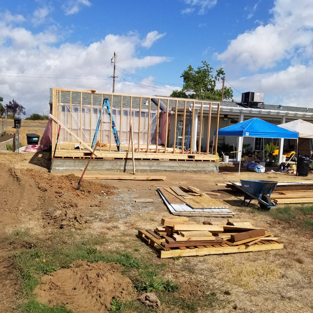 Elverta, CA - working on new addition. progress coming along. trusses should be delivered soon