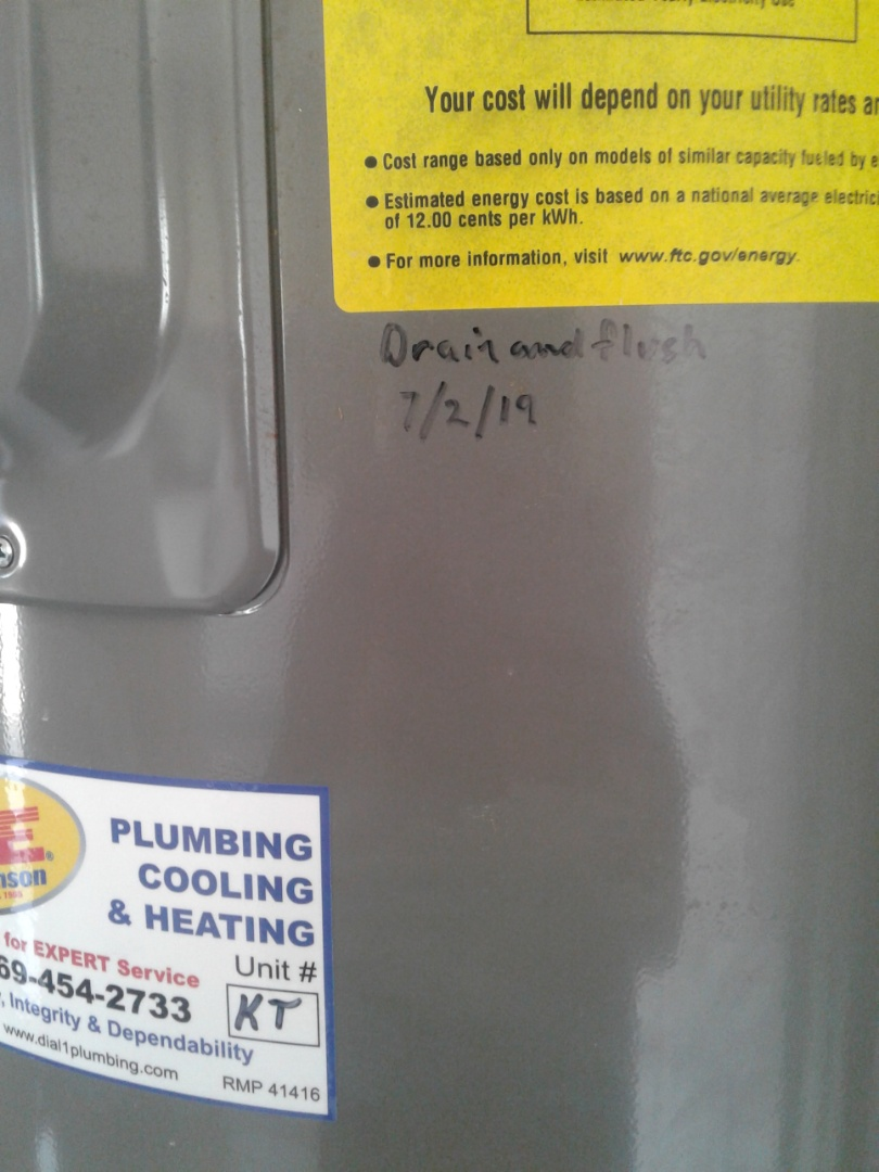Waxahachie, TX - Drain and flush water heaters
