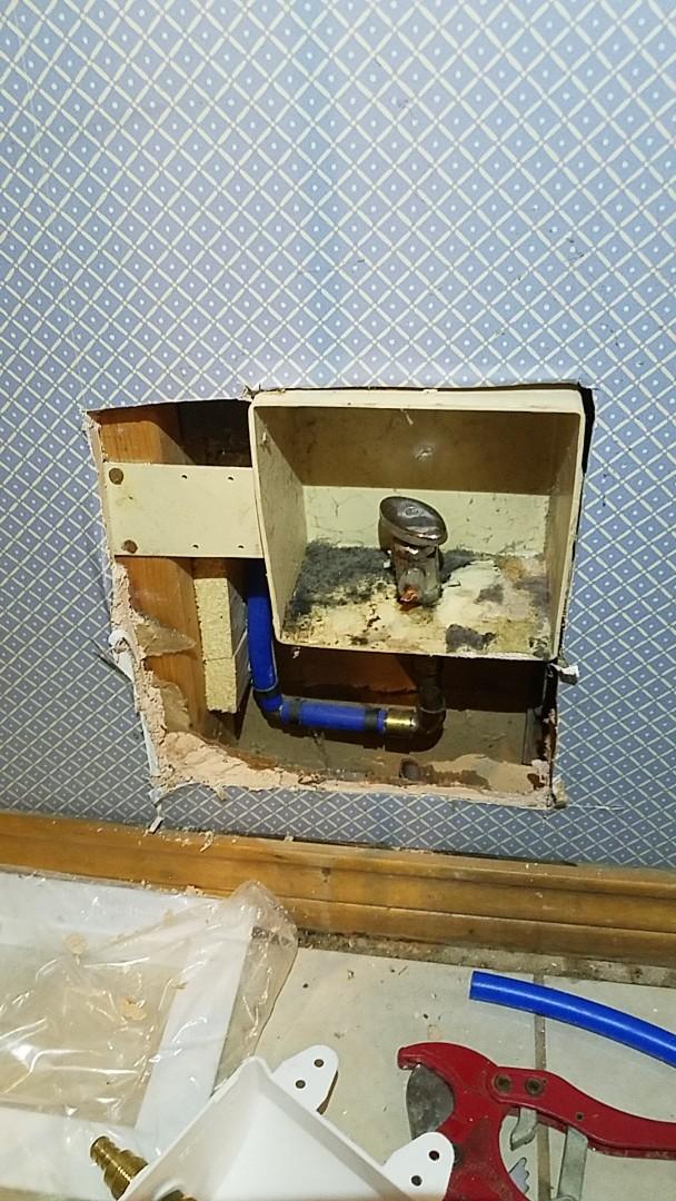 DeSoto, TX - Leaking refrigerator valve