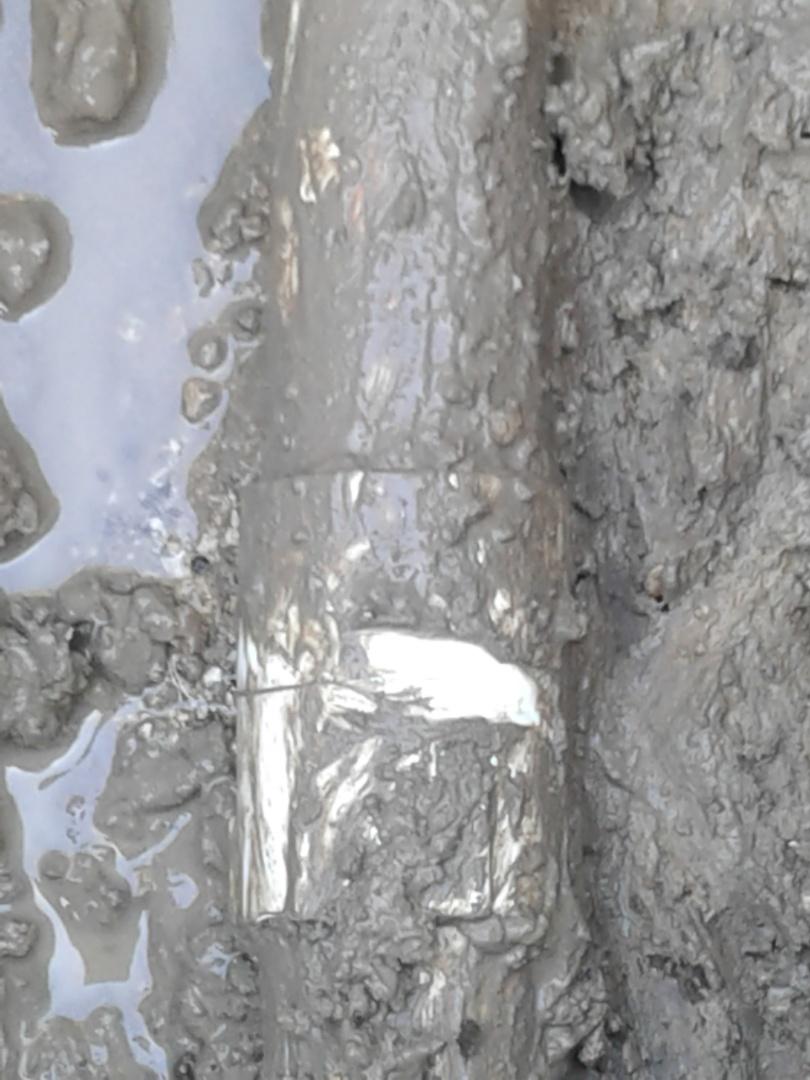 Midlothian, TX - Water leak in drive way