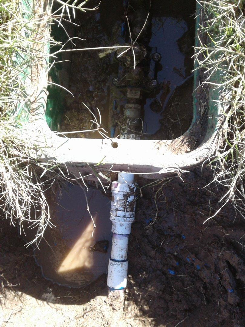 Midlothian, TX - Water leak in yard
