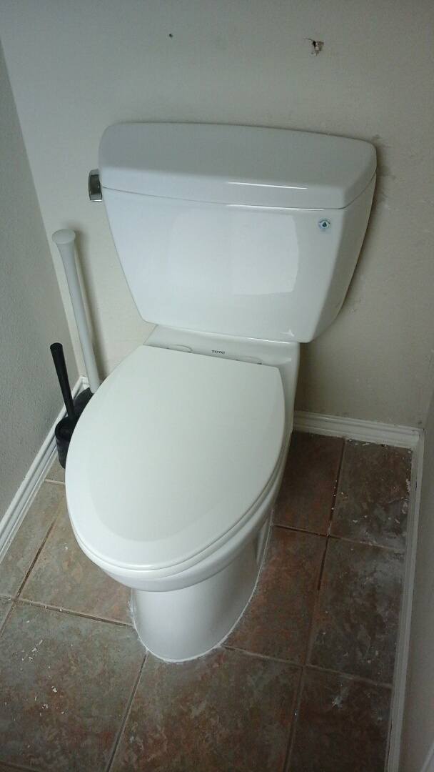 Grand Prairie, TX - Install Toto toilet.