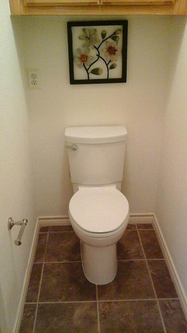 DeSoto, TX - Install customer supplied toilet