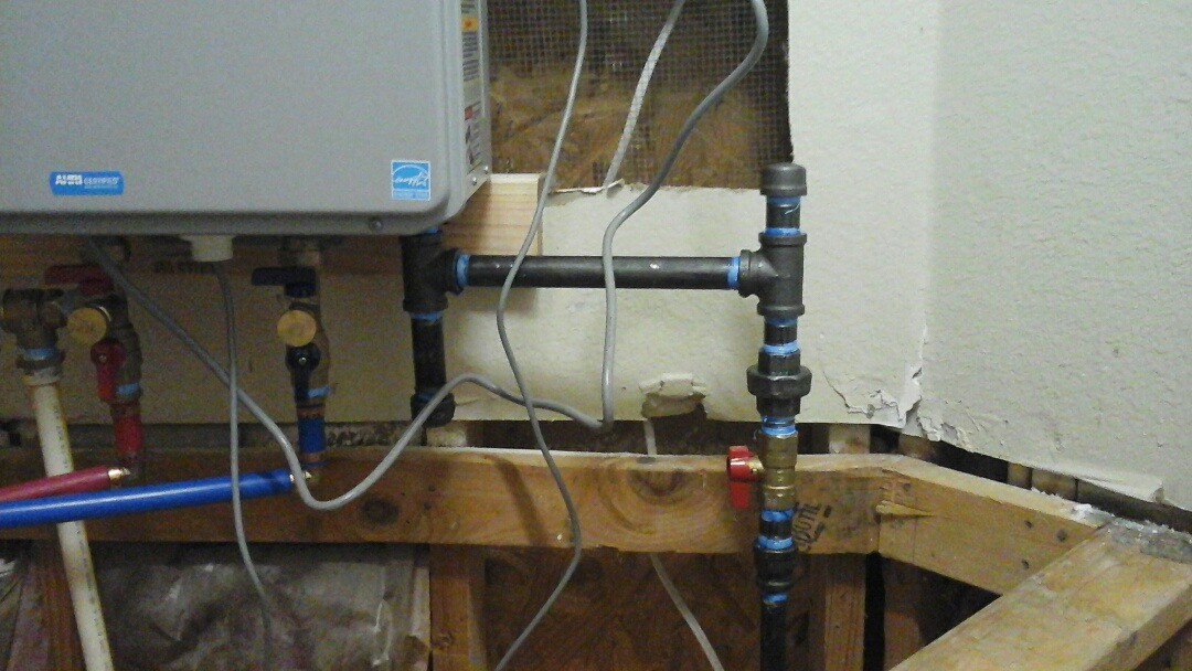 DeSoto, TX - Connect gas and water to tankless water heater
