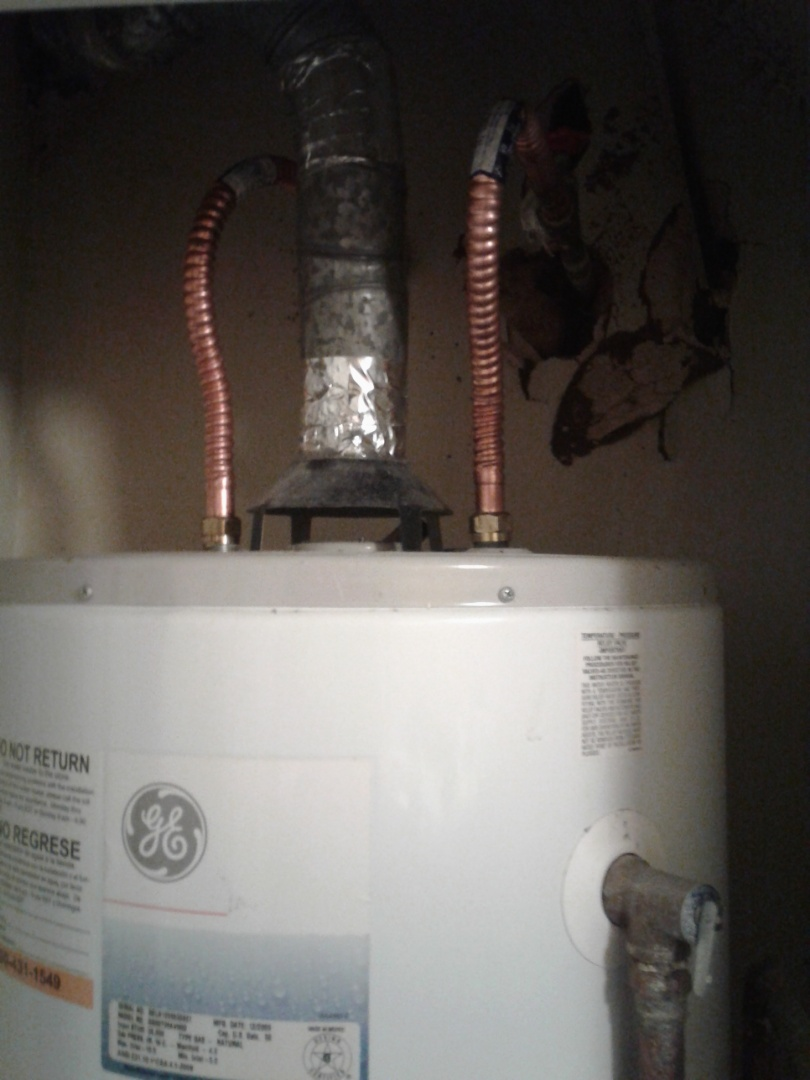 Garland, TX - Water heater supply line leaking