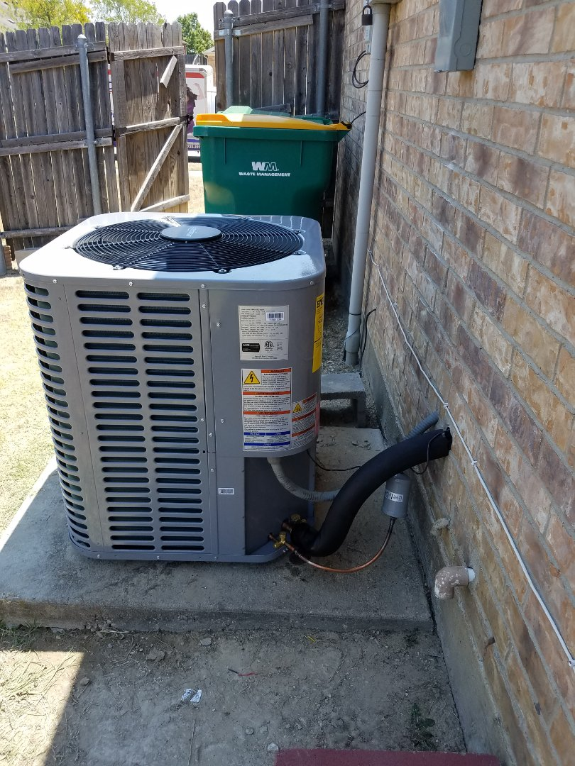 Glenn Heights, TX - Install new air conditioning system