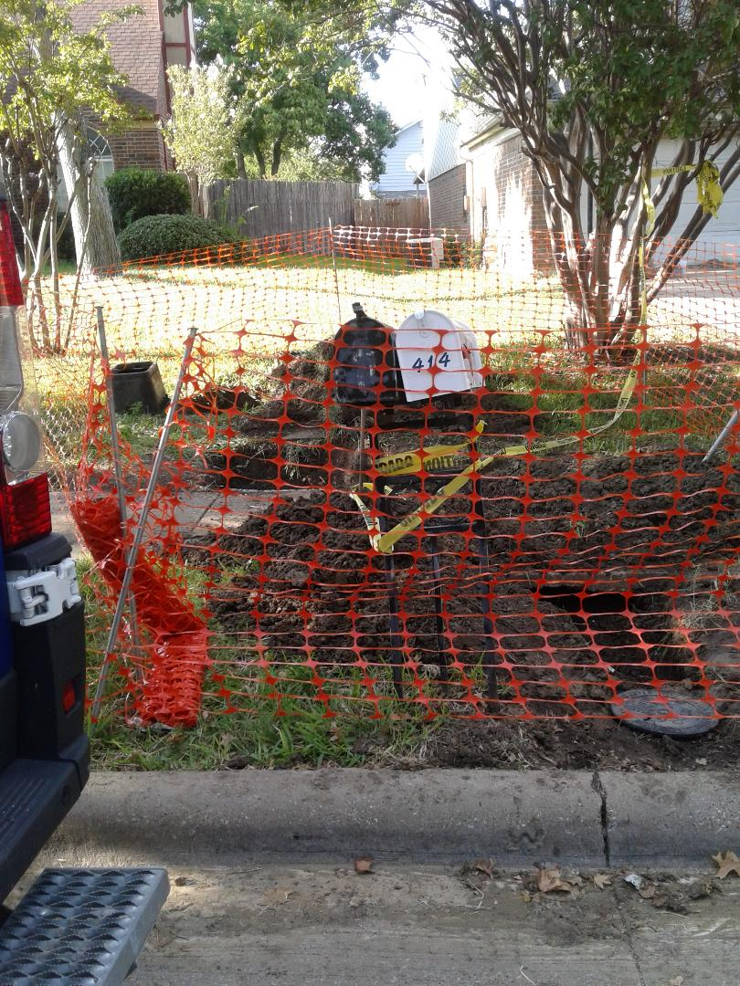 Grand Prairie, TX - Water service repair