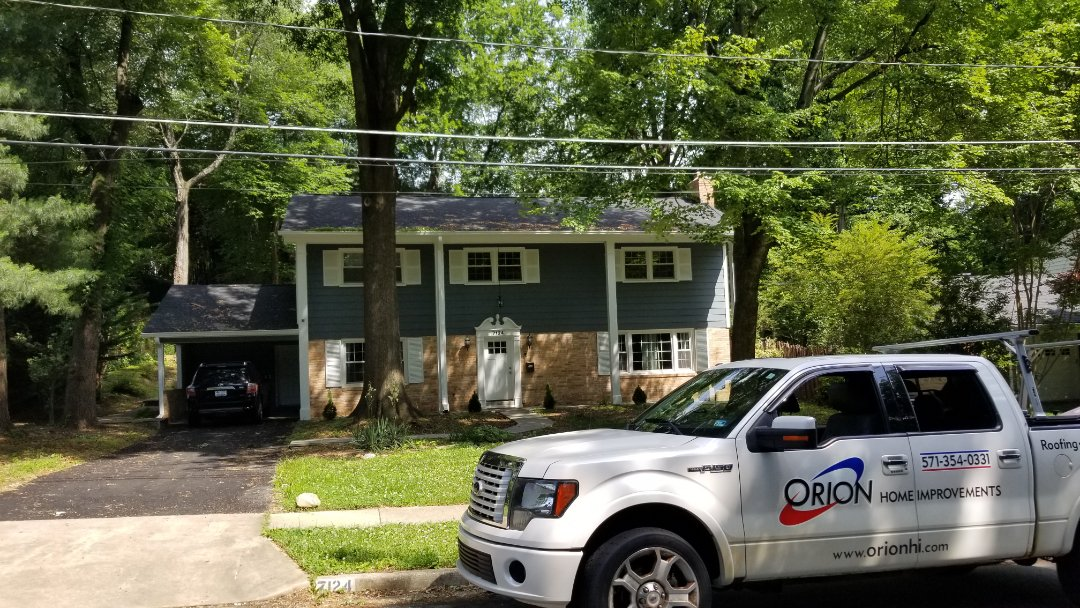 Alexandria, VA - New Gutter screens, gutter covers, gutter protection system install in Alexandria.  Gutter are clogged and are not draining properly.