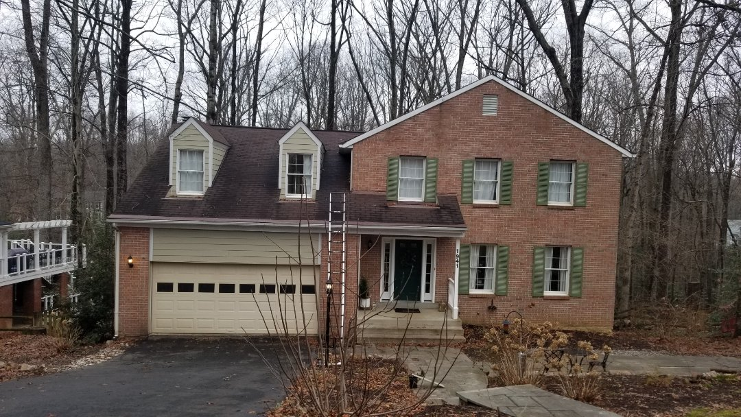 Reston, VA - Full roof replacement, gutter and downspout replacement, gutter guard protection install, skylight replacement, solar tube install, trim repair and aluminum capping, and soffit replacement in the Reston area of Fairfax.