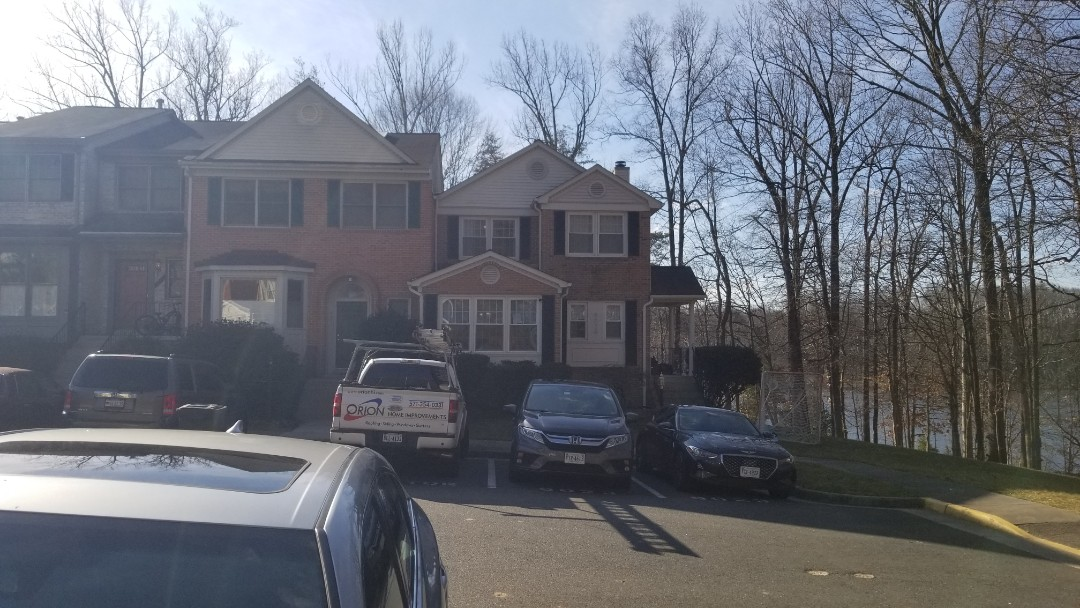 Springfield, VA - Roof repair (recommend roof replacement) on townhome in Springfield.  Possible wind damage causing roof leak.  May explore an insurance claim.