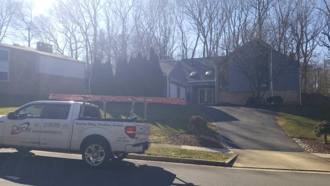 Vienna, VA - Skylight replacement in Vienna.  Former roof replacement, but homeowner elected to keep existing skylights.  Years later, skylights are old and leaking. Minor roof repair during skylight replacement.