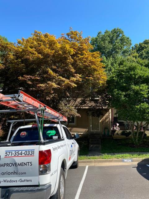 Springfield, VA - OHI did a roof replacement on this home with GAF Timberline HDZ shingles in the color Mission Brown. It was definitely time for a roof replacement, there was some soft, rotten plywood that was causing leakage and discoloration on the ceiling.