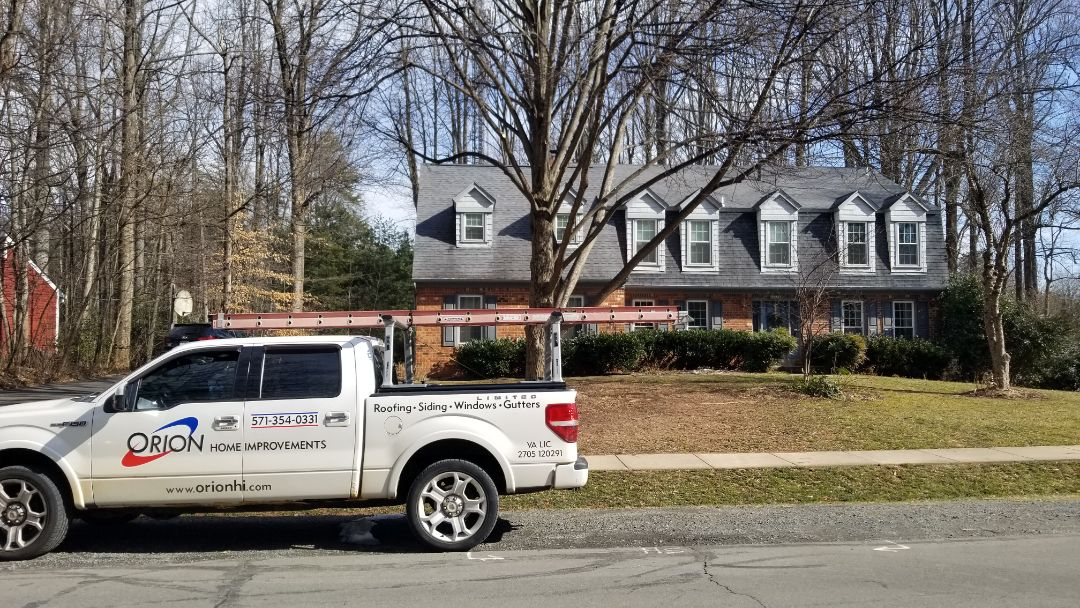 Fairfax Station, VA - Roof repair in Burke.  Leak coming in from a flat roof to sloped roof transition on a screened in porch.  Customer is still under warranty with the contractor that built the screened in porch, but I will work with her throughout the entire process.